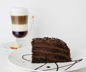 Rich, creamy chocolate cake with our triple layered cappuccino.